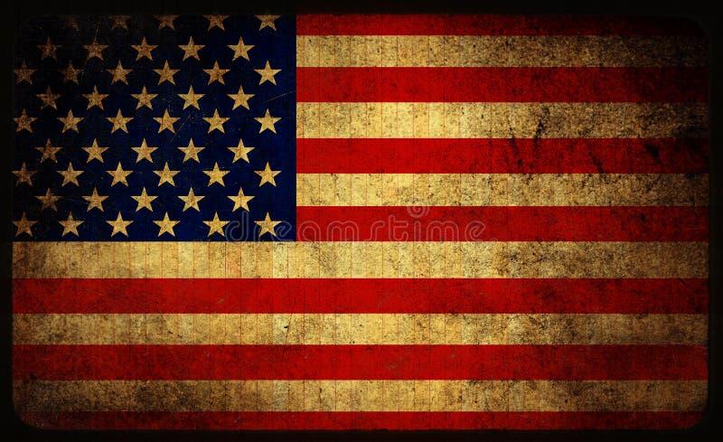 USA-Flagge stock abbildung