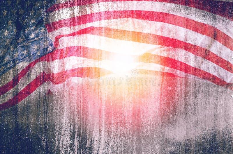 USA-Flaggenschmutzhintergrund, für den 4. Juli, Volkstrauertag oder Veterane lizenzfreie stockfotografie