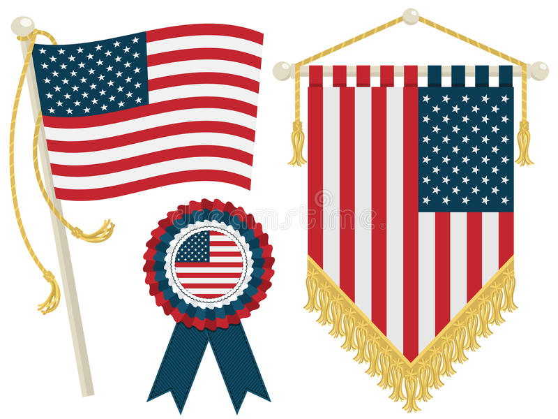 Download Usa flags stock vector. Illustration of stripes, american - 25574429