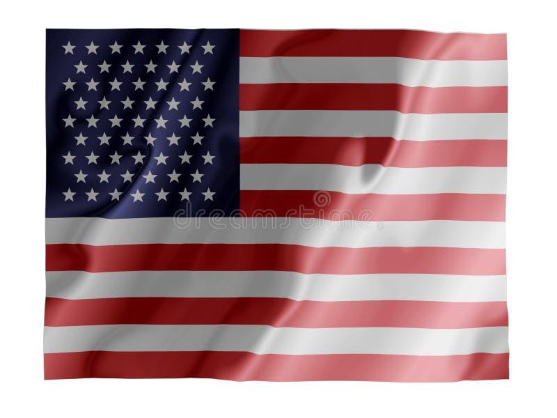 USA-Flattern lizenzfreie abbildung
