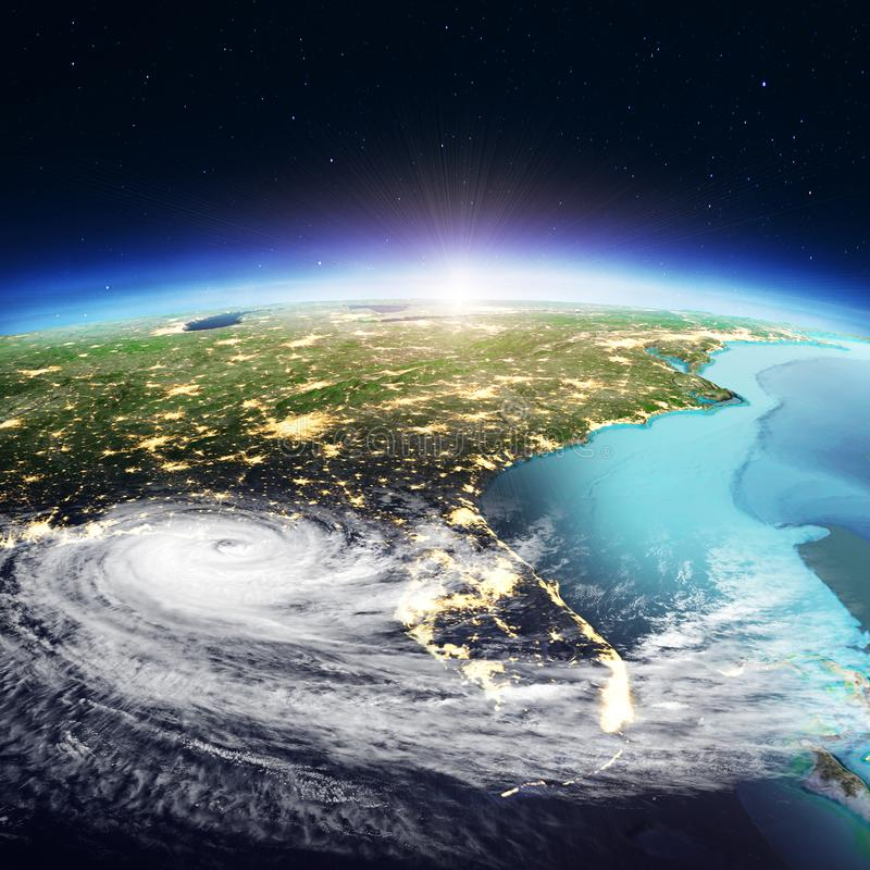 USA - Florida-Wirbelsturm Wiedergabe 3d stockfotos
