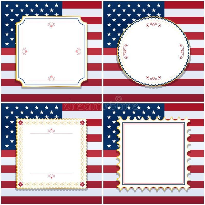 Usa frames stock vector. Illustration of america, scrapbooking ...