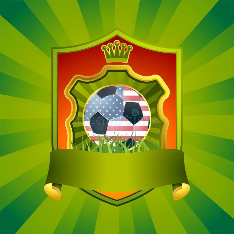 USA-Fußballzeichen lizenzfreie abbildung