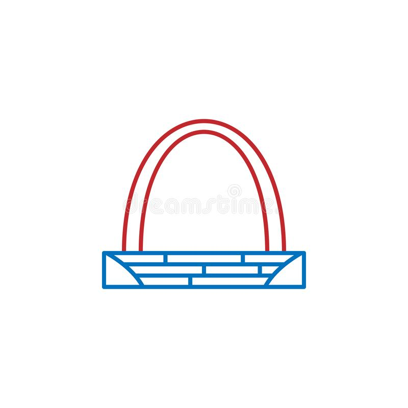 USA, gateway arch icon. Element of USA culture icon. Thin line icon for website design and development, app development. Premium. Icon on white background royalty free illustration