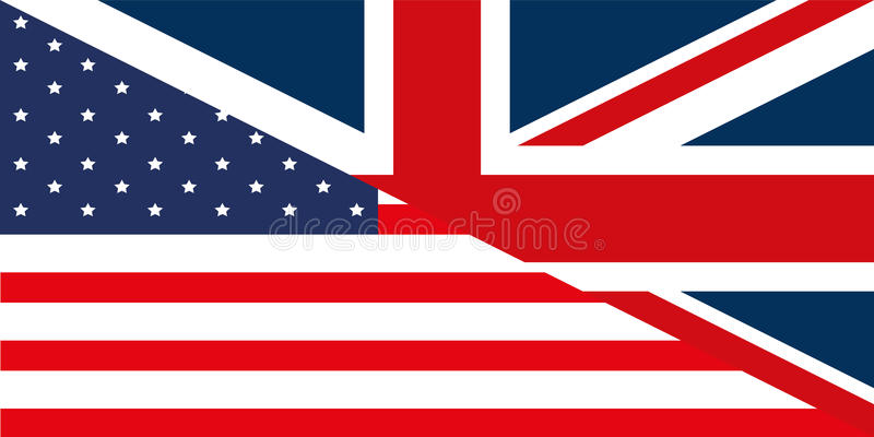 Download USA - GB Flag stock illustration. Illustration of nations - 15622202