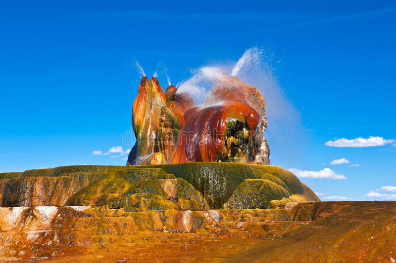 USA - geyser. Great USA trip - Fly geyser stock photography