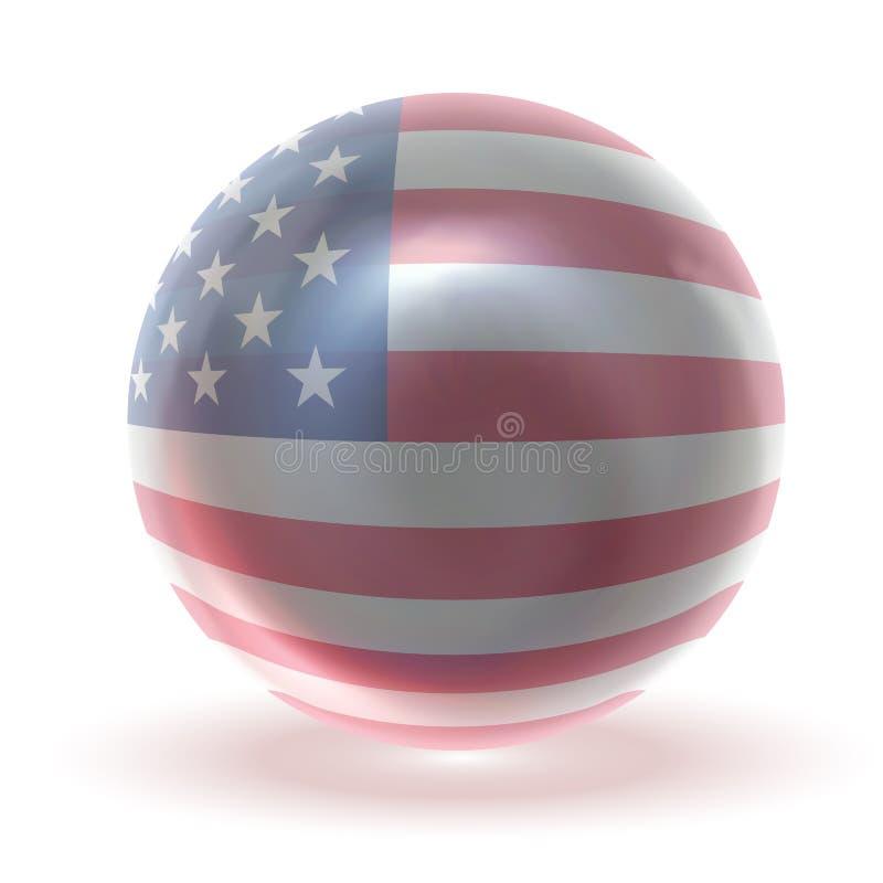 Download USA Glossy Crytsal Ball stock illustration. Image of blue - 7753399