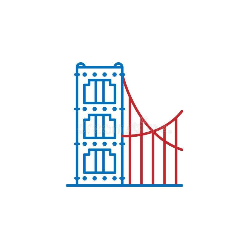 USA, golden gate icon. Element of USA culture icon. Thin line icon for website design and development, app development. Premium. Icon on white background stock illustration