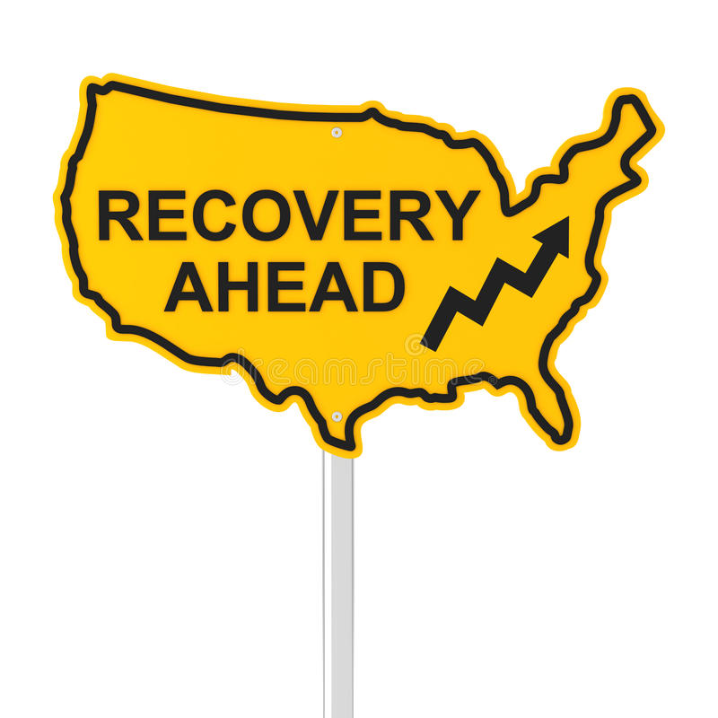USA gospodarki wyzdrowienie naprzód ilustracji