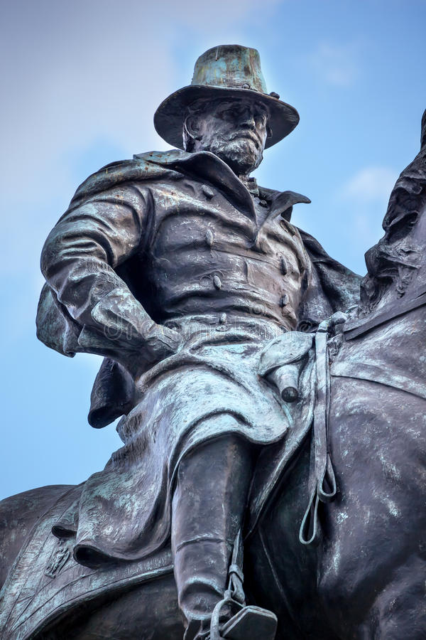 USA Grant statuy Wojennego pomnika Wzgórze Kapitolu Cywilny washington dc fotografia royalty free