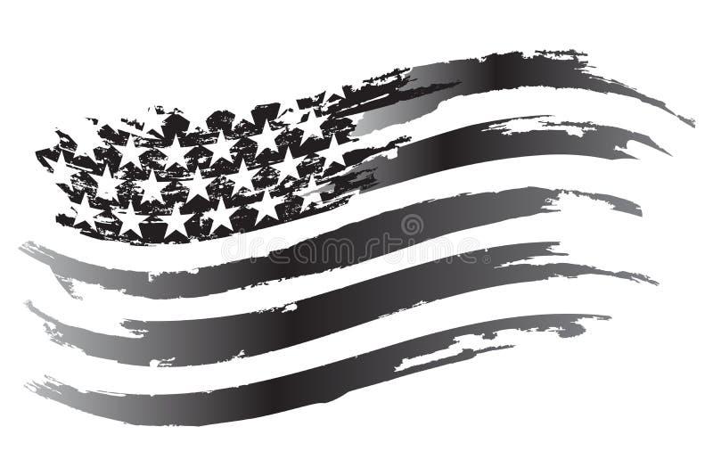 USA grayscale Chorągwiana Wektorowa ikona royalty ilustracja