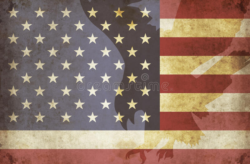 USA-grunge 3 stock illustrationer