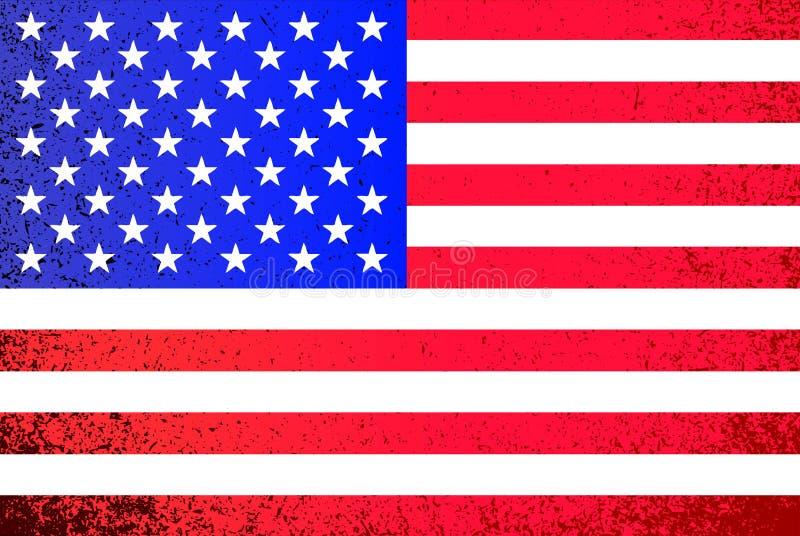 USA. grunge American flag illustration. Design background graphic vector illustration