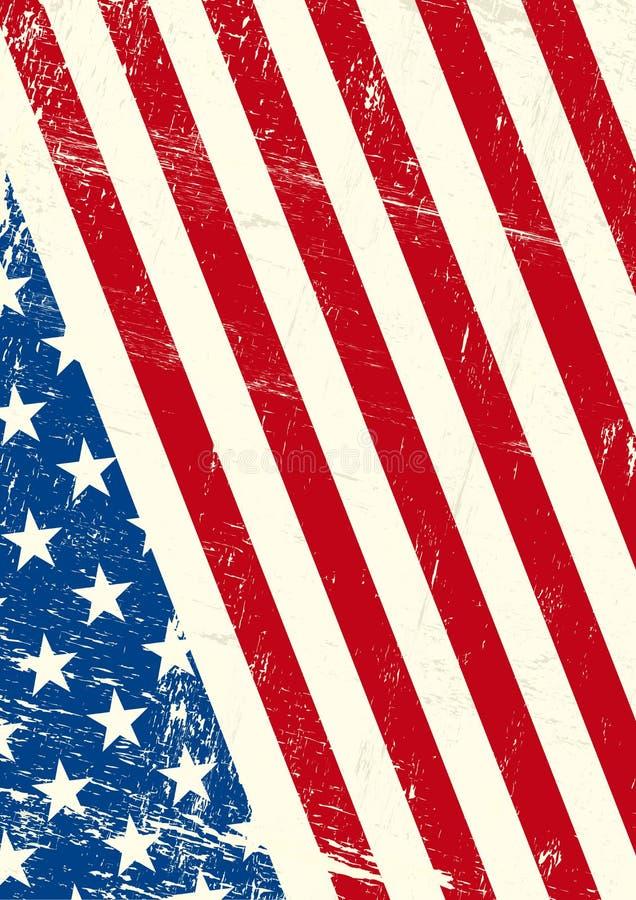 USA-grungeflagga royaltyfri illustrationer