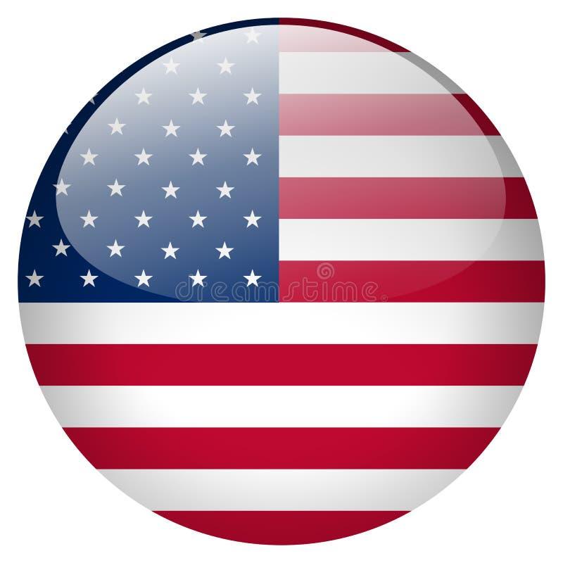 USA guzik ilustracja wektor