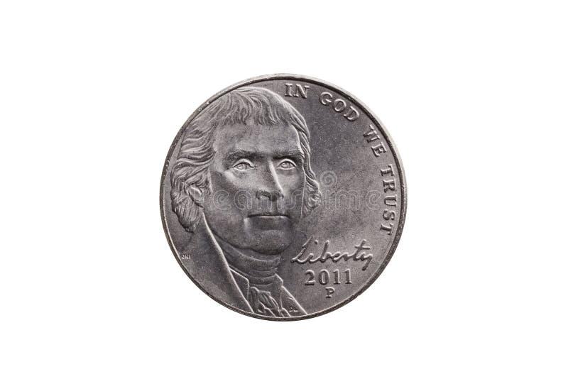 USA half dime coin Thomas Jefferson royalty free stock photos