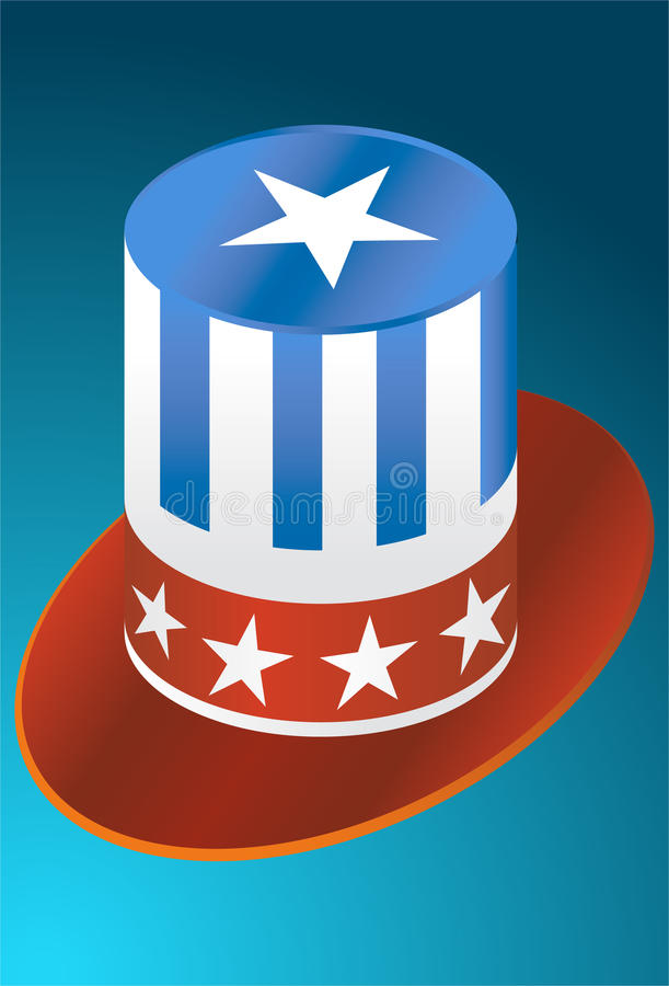 Download USA Hat stock vector. Illustration of design, american - 9437518