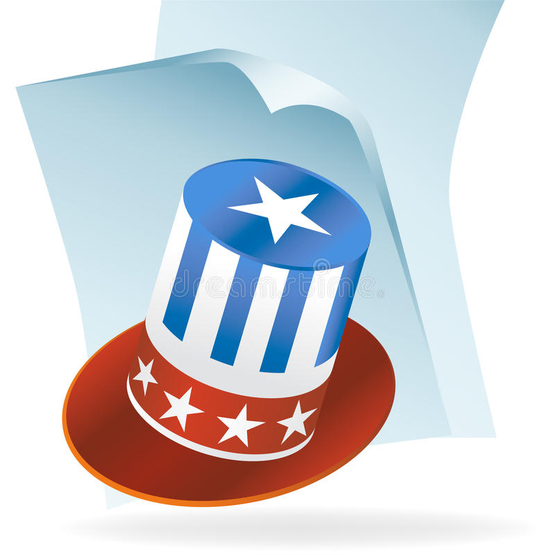 Download USA Hat Document Icon stock vector. Image of holiday, symbol - 9437521