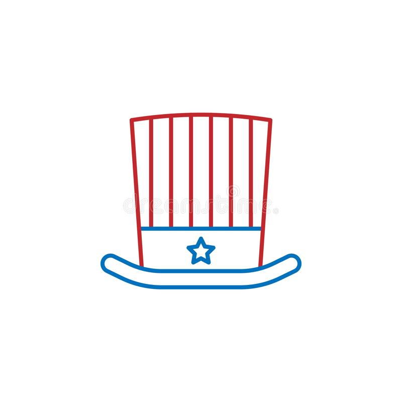 USA, hat icon. Element of USA culture icon. Thin line icon for website design and development, app development. Premium icon. On white background royalty free illustration