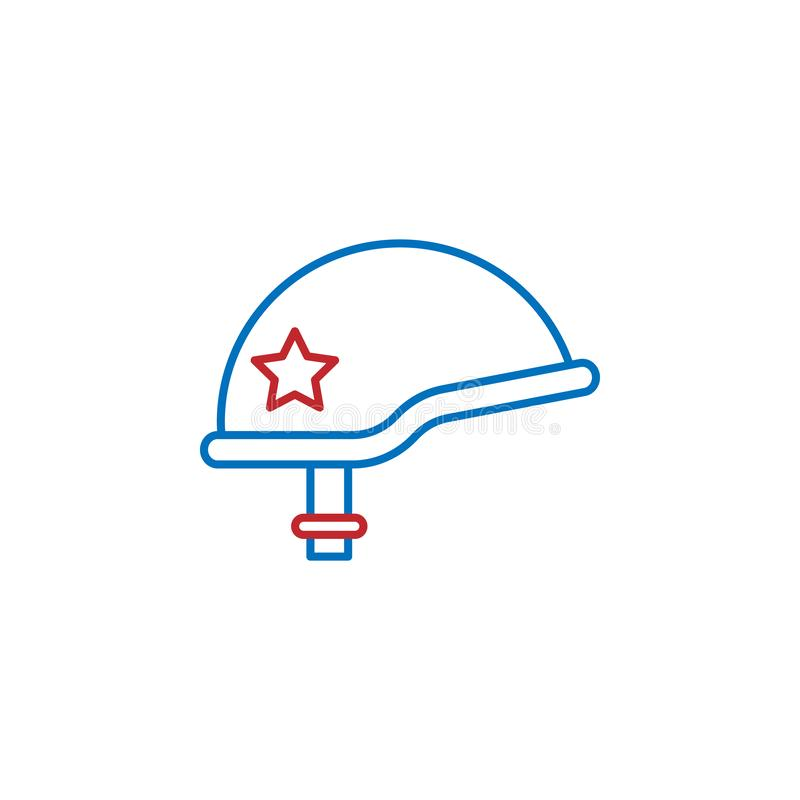 USA, helmet icon. Element of USA culture icon. Thin line icon for website design and development, app development. Premium icon. On white background royalty free illustration