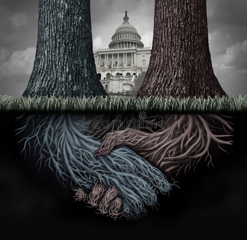 USA hemlig politik royaltyfri illustrationer