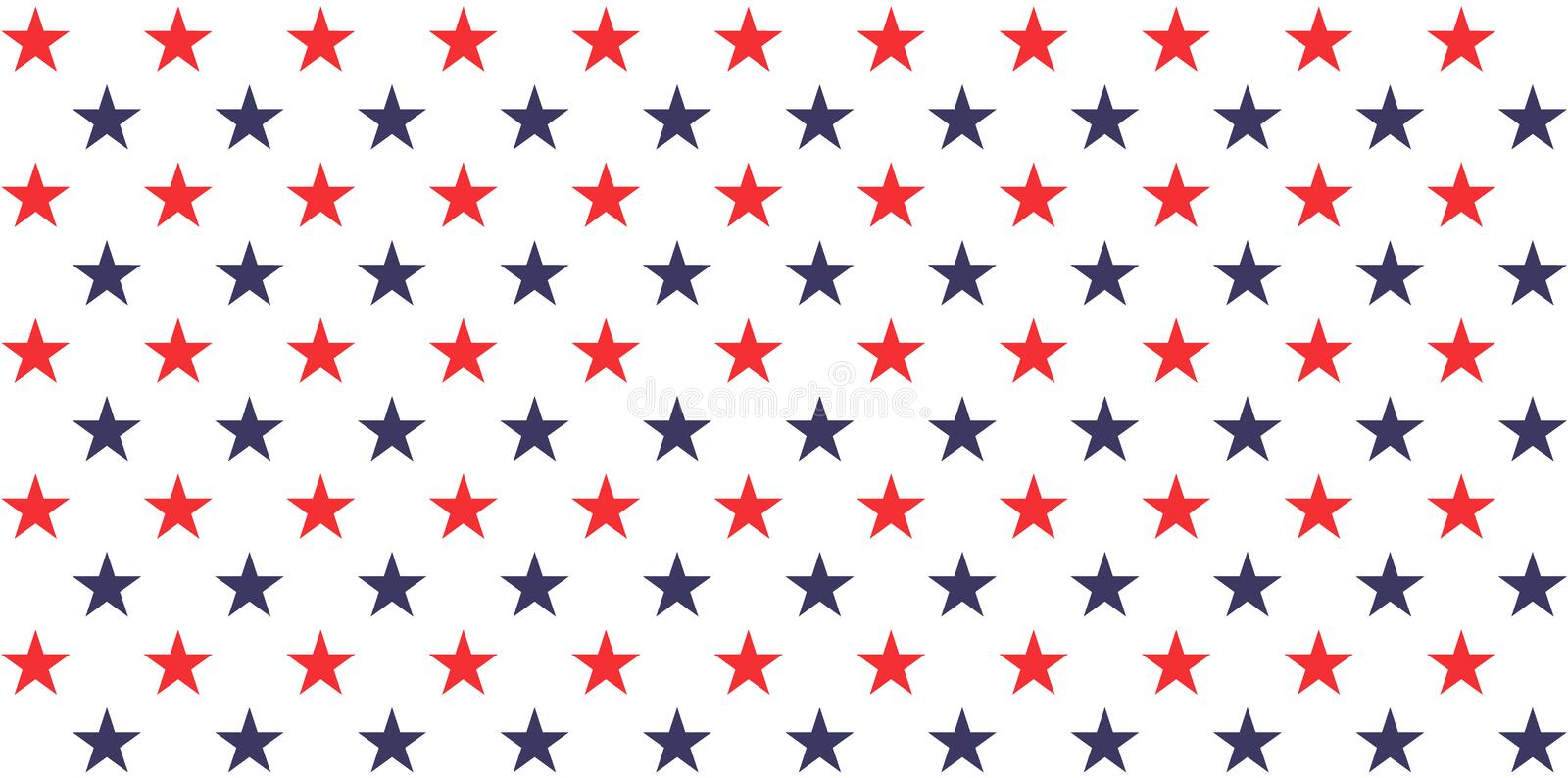 USA holiday 4th of July, American President Day, memorial day abstract vector seamless pattern stock illustration