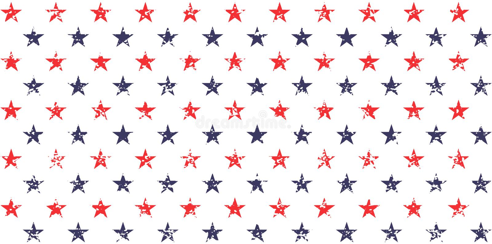USA holiday 4th of July, American President Day, memorial day abstract vector seamless pattern.  stock illustration