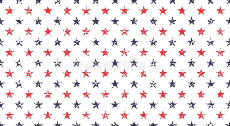 USA holiday 4th of July, American President Day, memorial day abstract vector seamless pattern.  royalty free illustration