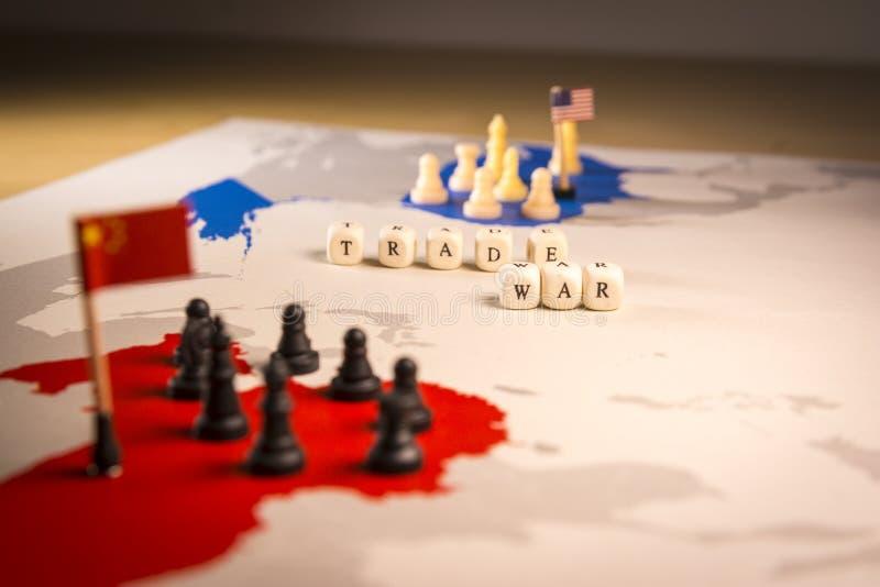 USA i Chiny wojny handlowa pojęcie zdjęcie royalty free