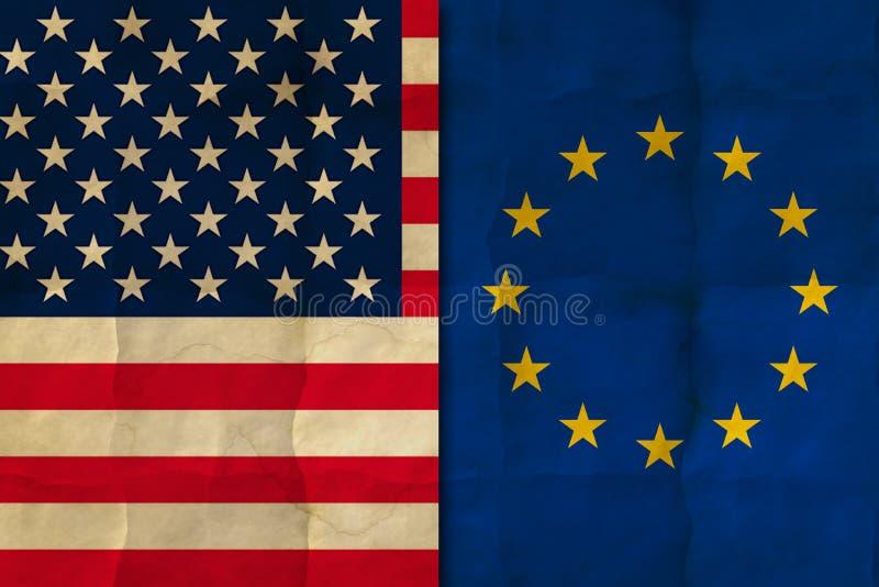 USA i Europa flaga royalty ilustracja