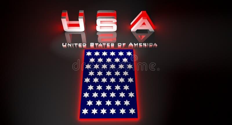 USA i illustrationen 3d vektor illustrationer