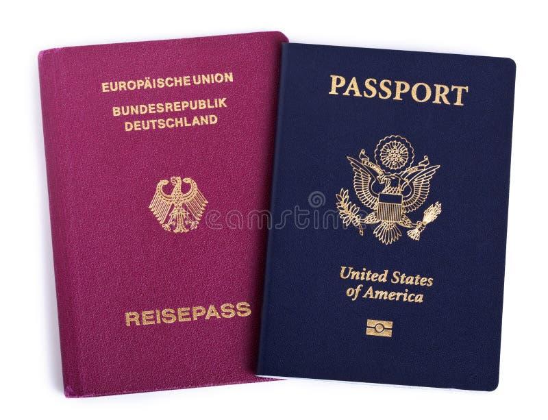 Dwoista narodowość - amerykanin & niemiec fotografia stock