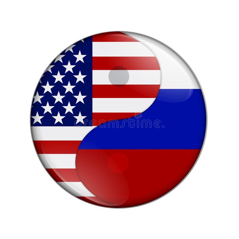 USA i Rosja pracuje wpólnie ilustracji