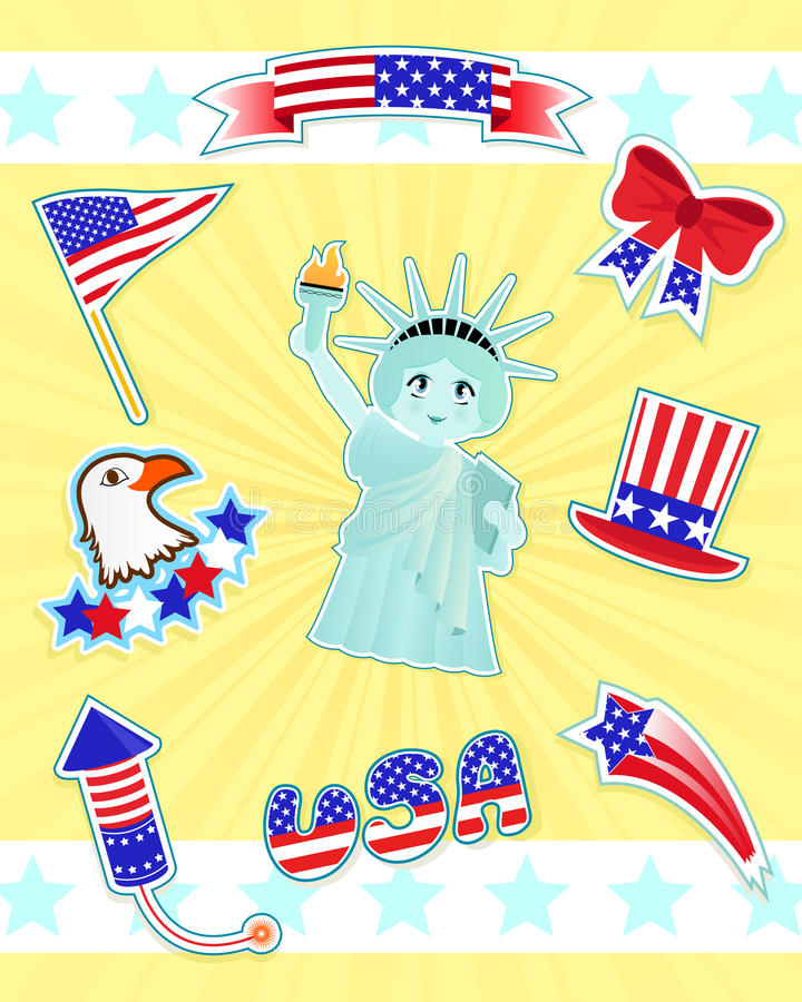 Download USA Icons Royalty Free Stock Photography - Image: 19778887