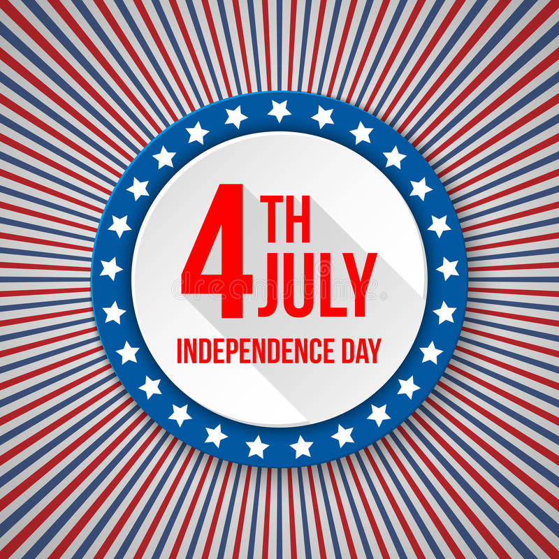 USA Independence Day background. 4 July national celebration. Patriotic template with text, stripes and stars for. Posters, decoration in colors of american stock illustration