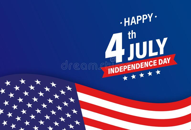 USA Independence Day 4th of July holiday. United states of America flag. Happy independence day banner. Memorial day. American. Background. Vector illustration stock illustration