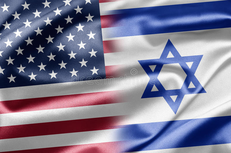 USA and Israel stock illustration
