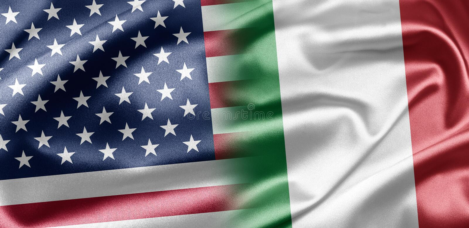 Download USA and Italy stock illustration. Illustration of american - 28585024