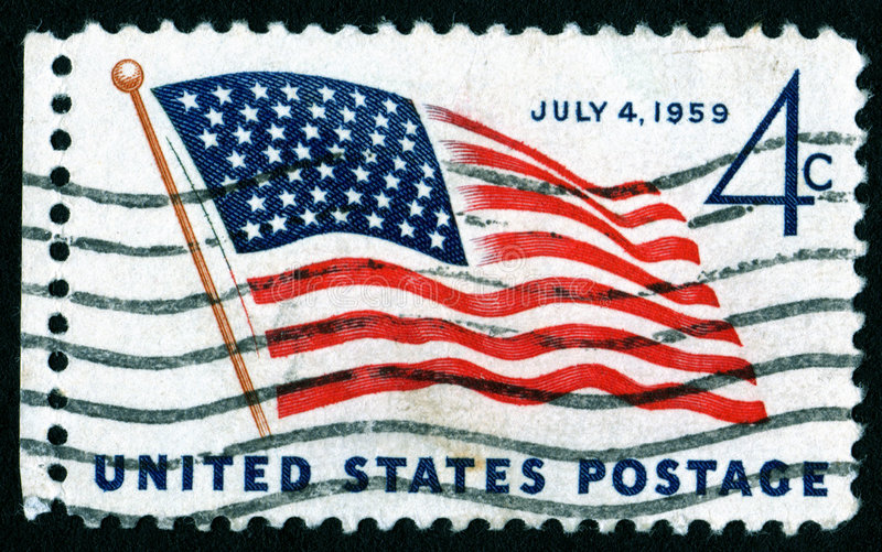 Download USA July 4th postage stamp stock photo. Image of star - 3378004