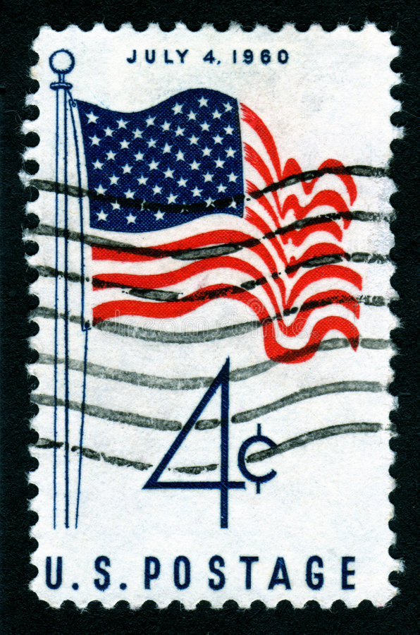 Download USA July 4th Postage Stamp stock photo. Image of scale - 3378082