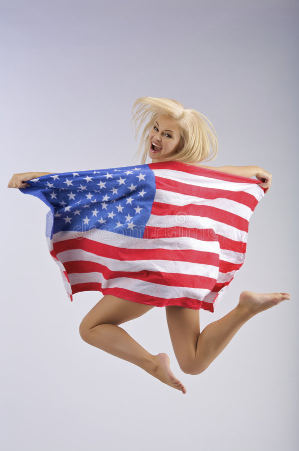 USA jumping royalty free stock image