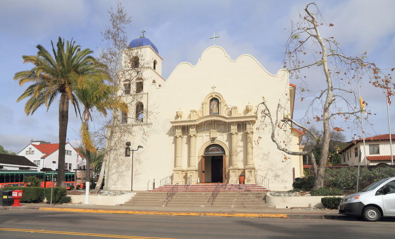 USA Kalifornia, San Diego,/: Kościół Katolicki Niepokalany poczęcie fotografia royalty free