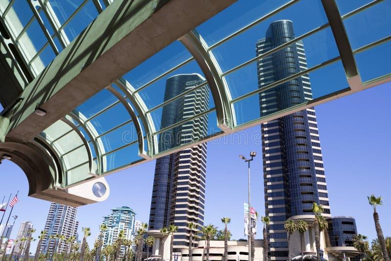 USA - Kalifornia, San Diego konwenci centre - i schronienie klub zdjęcia royalty free