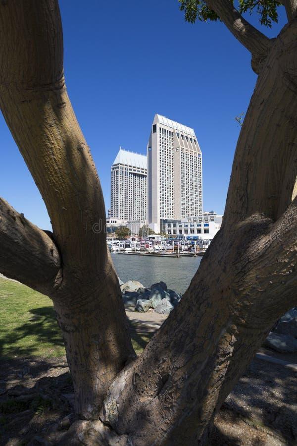 USA - Kalifornien - San Diego - embarcadero Jachthafenpark lizenzfreies stockfoto