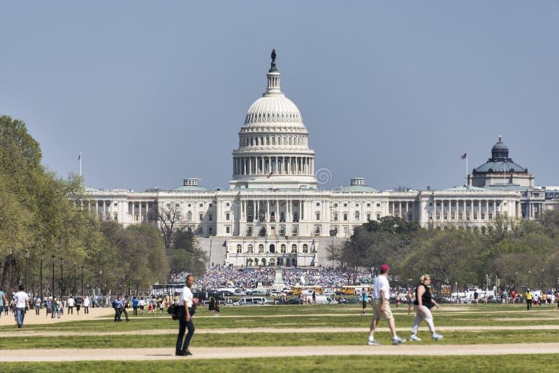 USA kapitał podczas Wymarzonego akt reformy wiecu fotografia royalty free