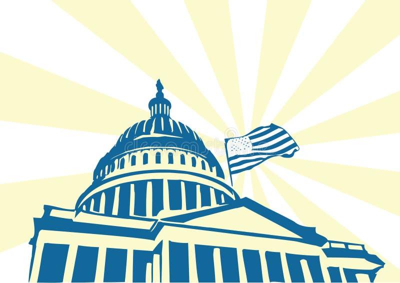 USA Kapitolium royaltyfri illustrationer