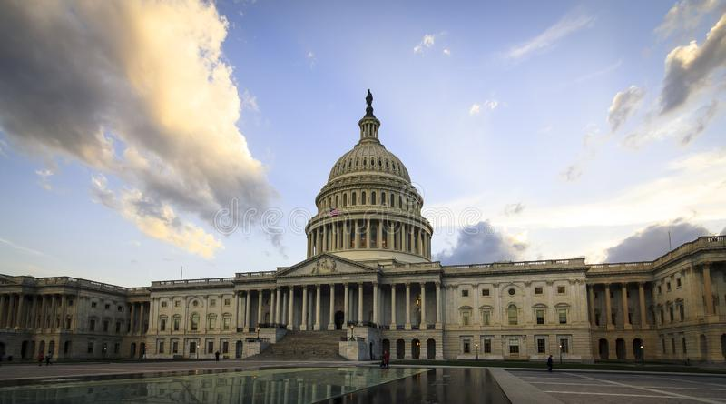 USA-Kapitolium i Washington DC arkivbilder