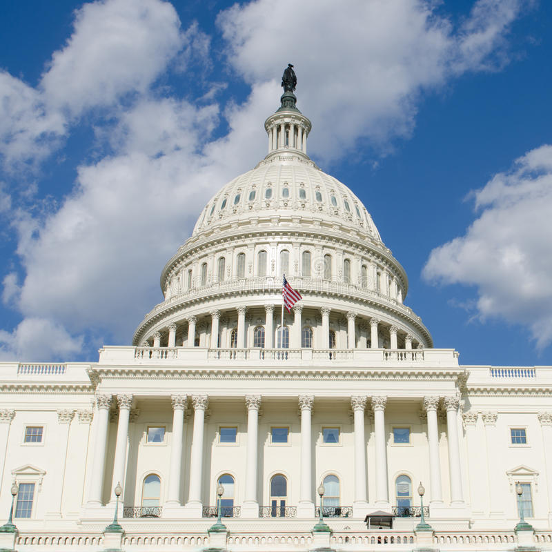 USA-Kapitoliumbyggnad, Washington DC, USA arkivbilder