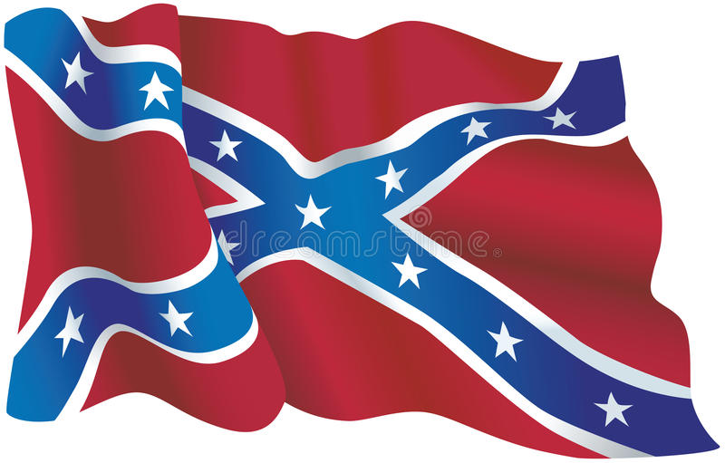 USA konfederacyjna flaga ilustracji