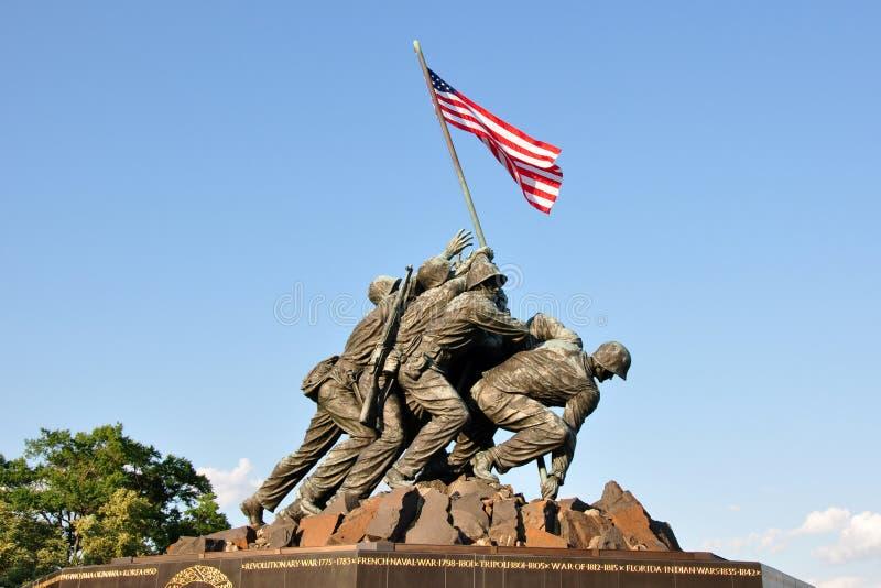 USA korpusów piechoty morskiej Wojenny pomnik obrazy stock